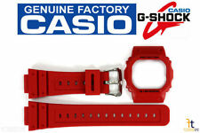 CASIO G-Shock DW-5600P-4 Original Red Watch BAND & BEZEL Combo