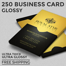 Business card printing services ebay 250 business card printing custom 16pt ultra glossy uv coated reheart Images