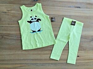 Tea Collection Girls Top and Leggings Set Sz 4 NWT!