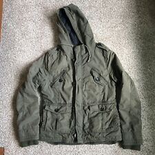 TNA Military Platoon Quilted Jacket Army Green L