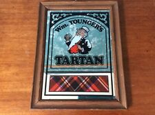 More details for vintage wm youngers tartan brewery pub home bar framed advertising mirror