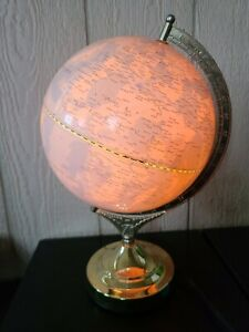 """Fucashun Touch-Activated Light Up Globe 15"""" Tall X 9""""  Desk Table Lamp"""