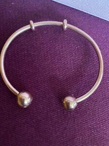 Pandora Rose Gold Plated Open Bangle Size 2 Genuine Item X