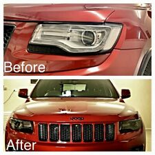 Jeep Grand Cherokee Headlight Tint Die Cut Kit Light Smoke Black Out 2014+