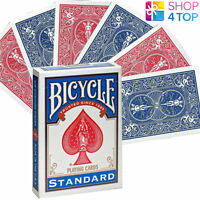 BICYCLE DOUBLE BACK NO FACE ONE SIDE RED ONE BLUE MAGIC TRICKS CARDS DECK USPCC