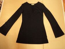 review  long black  tunic top never worn  1960s style