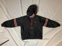 Vintage Chicago Bulls 1/4 Zip Starter Jacket, Youth Large, Red And Black