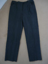 MICHELE CHARCOAL GREY PINSTRIPE TROUSERS