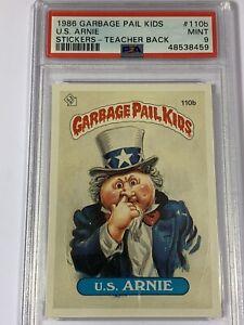 1986 Garbage Pail Kids OS3 #110b U.S. Arnie PSA MINT 9