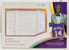 Julius Randle 2014-15 Panini Immaculate Player Caps Jumbo Hat Patch RC #'d 22/35