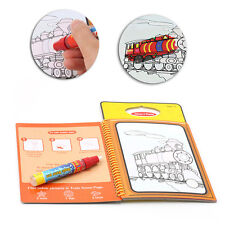 Kids Book Traffic Magic Water Drawing Pen Coloring Book Painting Graffiti Board