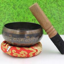 Buddhism Tibetan Meditation Singing Bowl Set For Yoga Prayer Relaxation 10.5cm