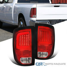 For 09-18 Dodge Ram 1500 10-18 2500 3500 Red/Clear LED DRL Bar Tail Rear Lights