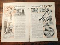 1932 How to Build Your One Telescope Star Secrets Revealed Lenses Astronomy