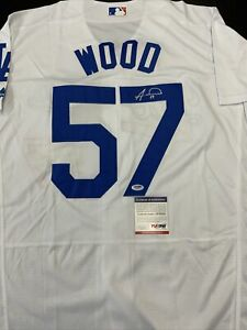 ALEX WOOD SIGNED LOS ANGELES DODGERS JERSEY PSA DNA COA
