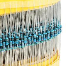 600 Pcs 30 Values 1/4W 1% Metal Film Resistors Resistance Assortment Kit Set US