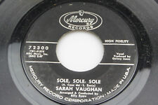 Sarah Vaughan: Sole, Sole, Sole / How's the World Treating You  [VG++ Copy]