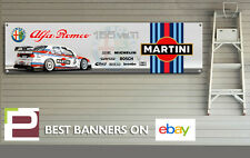 MARTINI RACING ALFA ROMEO 155 BTTC Logo banner per Officina, Garage, Man Grotta,