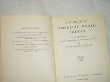 The Book of American Negro Poetry by James Weldon Johnson (1931, Hardback)