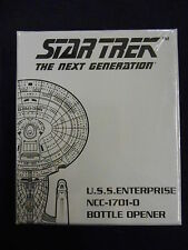 STAR TREK NEXT GENERATION USS ENTERPRISE NCC-1701-D BOTTLE OPENER (BMERCH) NEW
