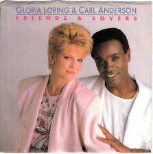GLORIA LORING & CARL ANDERSON - FRIENDS & LOVERS (CARRERE 06122) PS SLEEVE M-!!!