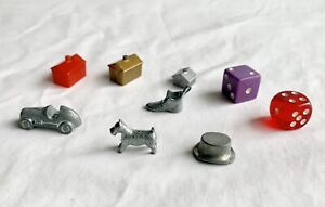 Mixed Monopoly Game Replacement Pieces/Movers Classic Token Dice  Lot
