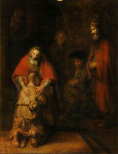 Rembrandt The Return of the Prodigal Son Giclee Paper Print Poster Reproduction