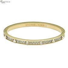++ MICHAEL KORS LADIES ROSE GOLD STUDDED CRYSTAL PAVE BANGLE MKJ3267710 RRP £199