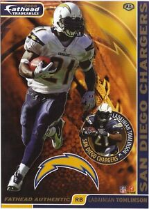 LADAINIAN TOMLINSON SAN DIEGO CHARGERS TCU HORNED FROGS FATHEAD TRADEABLES A2