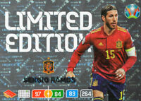 PANINI ADRENALYN XL UEFA EURO 2020 SERGIO RAMOS LIMITED EDITION CARD - SPAIN