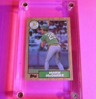 1987 Topps #366 Mark McGwire Rookie Card Oakland Athletics NM NrMt RC