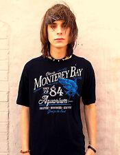 MONTERAY BAY AQUARIUM Black 100% Cotton Size M T-Shirt