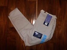 NWT Womens Bandolino Lisbeth Belted Curvy Ankle Pants Cream stone Size 14