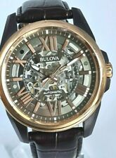 Bulova Classic Automatic Skeleton Dial Men's Watch 98A165  (704F)