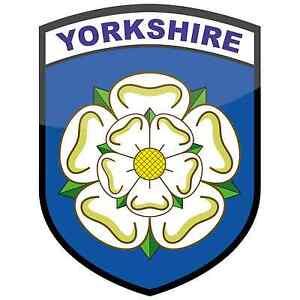 Yorkshire Rose County Flag Vinyl Car Window Sticker