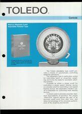 Rare Vintage Original Toledo Scale Dealer Sheet Page: Mercury Magnetic Cutoff