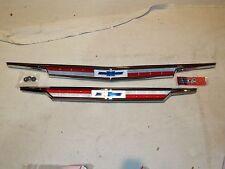 1963 63 Chevy Chevrolet Impala Belair Hood & Trunk  Chrome Emblem Assemblys