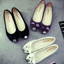 Women's Korean Style Cute Mice Pattern Solid Flats Casual Slip-on Loafers Shoes