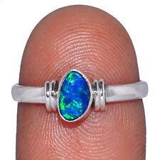 Australian Fire Opal 925 Sterling Silver Ring Jewelry s.7.5 AR92299