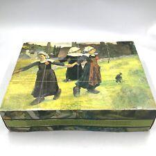 Vintage Pieces of Art Wooden Puzzle Pieces Of Famous Painters Cezanne VanGogh