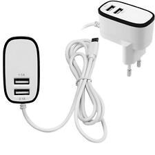 3.1A Triple 2Port Micro USB Port Home Travel AC Wall Charger Adapter EU Plug