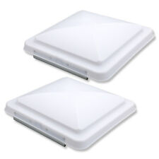 "2x Roof Vent Cover Camper RV Trailer White Lid Camper Trailer Motorhome 14""x 14"""