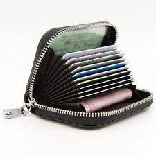 Women Leather Zip Around Coin Wallet Credit Card Holder Cases RFID Blocking SH