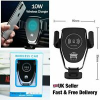 Fast Charging Qi Wireless Car Charger Mount Air Vent Phone Holder UNIVERSAL