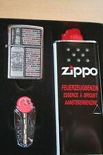 EDEL  ZIPPO  JIM BEAM BOTTLE  Emblem PLATTE  CHROM  NEU im Geschenkset