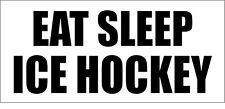 Comer dormir de Hockey sobre Hielo-Sports temática pegatina de vinilo - 28cm X 12cm