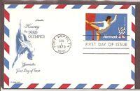 US SC # UXC18 Gymnast .Postal Card FDC. Artmaster Cachet