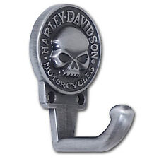 HARLEY DAVIDSON WILLIE G SKULL LOGO ANTIQUE PEWTER FINISH HOOK