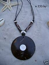 Tribal Coco Wood Shell Necklace Surf Ethnic / N233ky