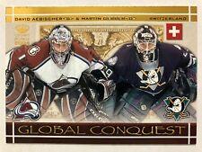2003-04 Crown Royale Global Conquest David Aebischer Martin Gerber #9